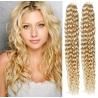 Kudrnaté vlasy pro metodu Pu Extension / Tape Hair / Tape IN 50cm - nejsvětlejší blond