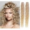 Kudrnaté vlasy pro metodu Pu Extension / Tape Hair / Tape IN 60cm - platina