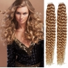 Kudrnaté vlasy pro metodu Pu Extension / Tape Hair / Tape IN 60cm - přírodní / světlejší blond