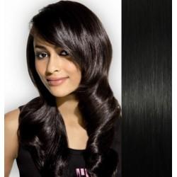 Vlasy pro metodu Pu Extension / TapeX / Tape Hair / Tape IN 40cm - černé