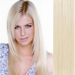 Vlasy pro metodu Pu Extension / TapeX / Tape Hair / Tape IN 40cm - platina