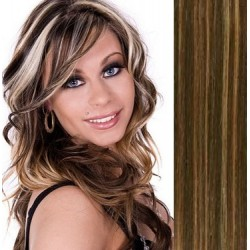 Vlasy pro metodu Pu Extension / TapeX / Tape Hair / Tape IN 40cm - tmavý melír