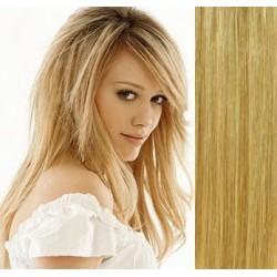 Vlasy pro metodu Pu Extension / TapeX / Tape Hair / Tape IN 50cm - přírodní/světlejší blond