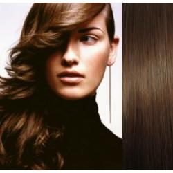 Vlasy pro metodu Pu Extension / TapeX / Tape Hair / Tape IN 60cm - středně hnědé