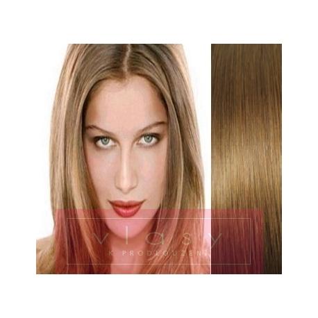 Vlasy pro metodu Pu Extension / TapeX / Tape Hair / Tape IN 60cm - světle hnědé