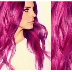 Vlasy pro metodu Pu Extension / TapeX / Tape Hair / Tape IN 40cm - růžová